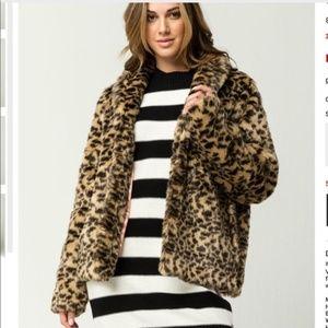 Fureals Leopard Print Fur Coat